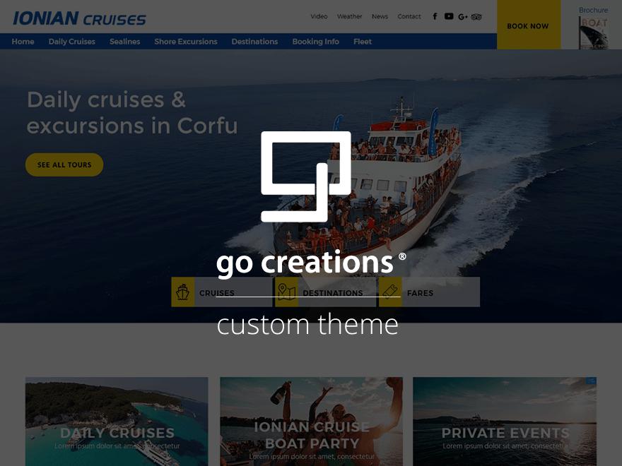 ionian cruises theme