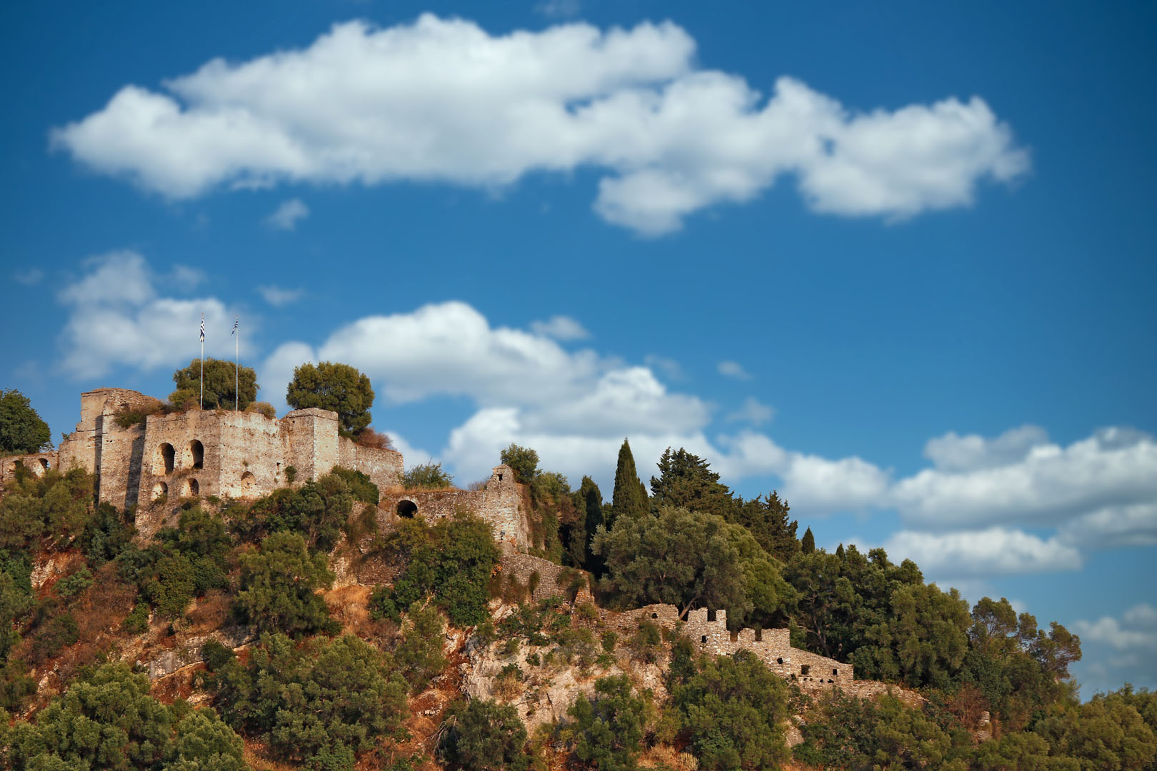 Venetian-Castle-in-Parga-walking-path-with-Ionian-Cruises